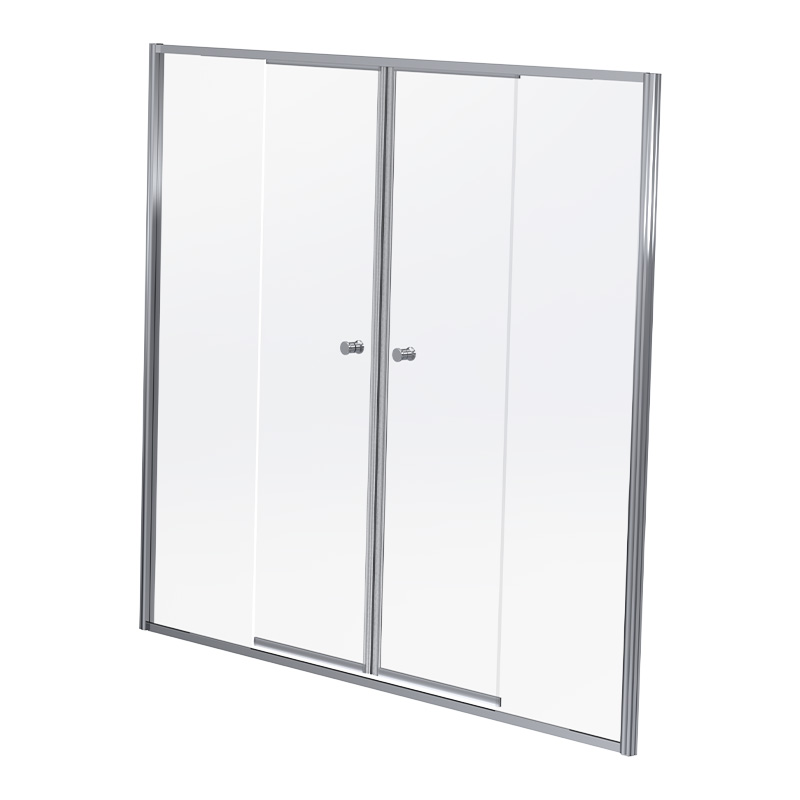 DUS18SC 1700-1800*1860MM DUO SLIDE - SILVER/CLEAR