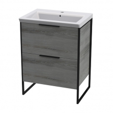 CONWAY 600 F/UNIT-MATT B/STEEL & MAD/OAK+THE GAP 600 BASIN