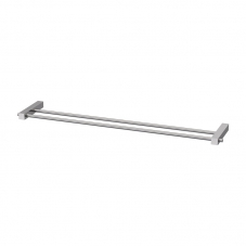 SQUARE DOUBLE TOWEL RAIL 600MM SS304