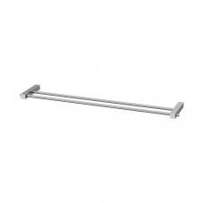 SQUARE DOUBLE TOWEL RAIL 800MM SS304