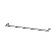 ACCESSORIES SUPREME DOUBLE 800 TOWEL RAIL STAINLESS STEEL AV