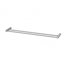 ACCESSORIES VENUS DOUBLE 800 TOWEL RAIL STAINLESS STEEL AVEC