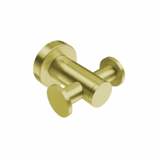 4611 ROBE HOOK DOUBLE - BRUSHED CHAMPAGNE GOLD 4611BCGD