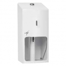 TICRA 2 ROLL TOILET ROLL HOLDER LOCKABLE - WHITE (PHTIC12)