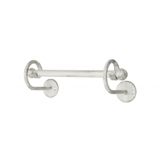 ACCESSORIES POSEIDON HAND 280 MM TOWEL RAIL WHITE PEWTER POS
