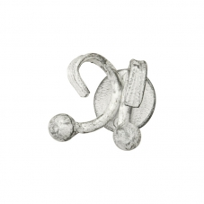 ACCESSORIES POSEIDON SINGLE ROBE HOOK WHITE PEWTER POSEIDON