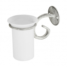 ACCESSORIES POSEIDON  TOOTHBRUSH HOLDER WHITE PEWTER POSEIDO