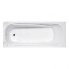 BATH BUILD IN ROMA NO HANDLES WHITE ASP