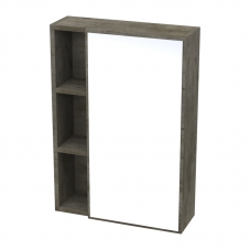IVY WALL MIRROR UNIT - NATURAL CONCRETE