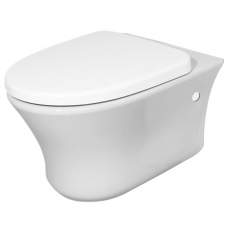 TOILET WALL HUNG MARAJO DIPLOMAT PAN + SEAT WHITE BETTA