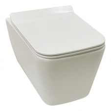 TOILET WALL HUNG JACOB II RIMLESS PAN + SEAT WHITE DIDI