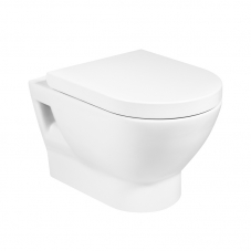 TOILET WALL HUNG ATIS PAN + SEAT WHITE ROCA