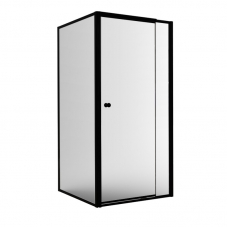COM90BL 900*900MM TEL/PIVOT + R/PANEL- MATTBLACK(IN ONE BOX)