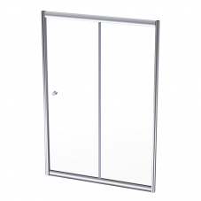 SHOWER DOOR BI-SLIDER 1300 * 1860MM SILVER / CLEAR FINESTRA