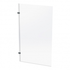 SHOWER BATH SCREEN HINGED 1400 * 800MM SILVER / CLEAR FINEST