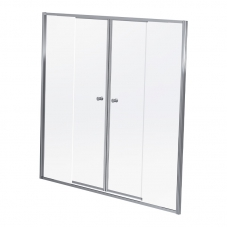 DUS17SC 1600-1700*1860MM DUO SLIDE - SILVER/CLEAR