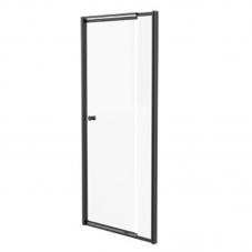SHOWER DOOR PIVOT 1030 - 1180 * 1860 BLACK / CLEAR FINESTRA