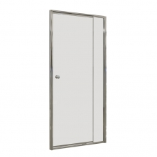 SHOWER DOOR PIVOT 880 - 980 * 1860 SILVER / CLEAR FINESTRA