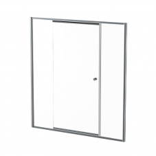 MON15SC 1530-1630*1860MM MONO TEL PIVOT DOOR - SILVER/CLEAR