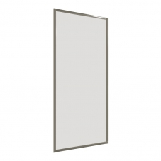 SHOWER PANEL RETURN 800 * 1860 SILVER / CLEAR FINESTRA