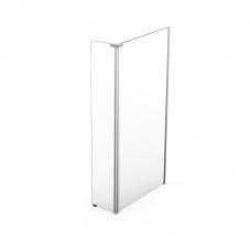 SHOWER SCREEN SAPHIRE 1500 * 300 * 2000 SILVER / CLEAR FINES