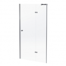 SHOWER HINGED DOOR SEMI FRAME 1000 * 1860 SILVER / CLEAR FIN