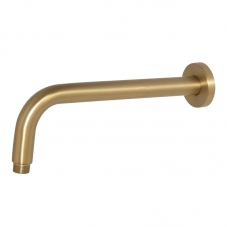 300MM SHOWER ARM ROUND - BRUSHED BRASS (SA02403A)