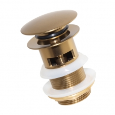 BASIN POP UP WASTE SLOTTED - BRUSHED BRASS (SA01080A)