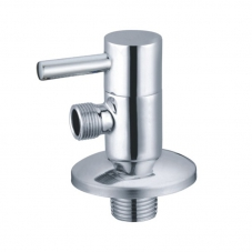 FITTINGS VALVE ANGLE 15MM X 15MM ROUND CHROME DIDI