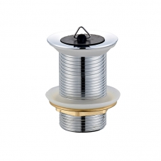 FITTINGS WASTE BASIN PLUG - UNSLOTTED CHROME DIDI