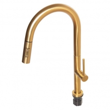 NEO SINK MIXER PULL OUT - BRUSHED BRASS (NM0A017)