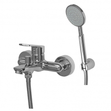 SPRING BATH MIXER WALL TYPE INCL HAND SHOW - CHROME(ST00030)