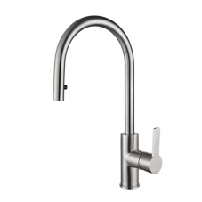 INOX EDGE SINK MIXER PULL OUT DECK TYPE - CHROME (SL301IN)